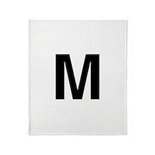 M Helvetica Alphabet Throw Blanket