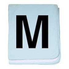 M Helvetica Alphabet baby blanket