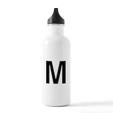 M Helvetica Alphabet Water Bottle
