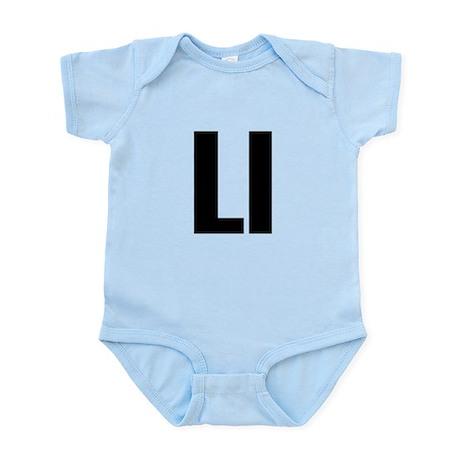 L Helvetica Alphabet Infant Bodysuit