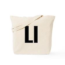 L Helvetica Alphabet Tote Bag