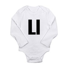 L Helvetica Alphabet Long Sleeve Infant Bodysuit