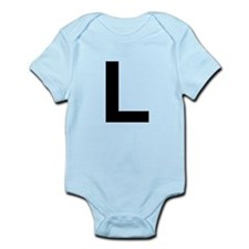 L Helvetica Alphabet Infant Bodysuit