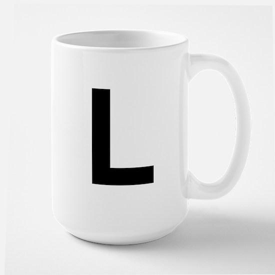 L Helvetica Alphabet Large Mug