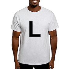 L Helvetica Alphabet T-Shirt