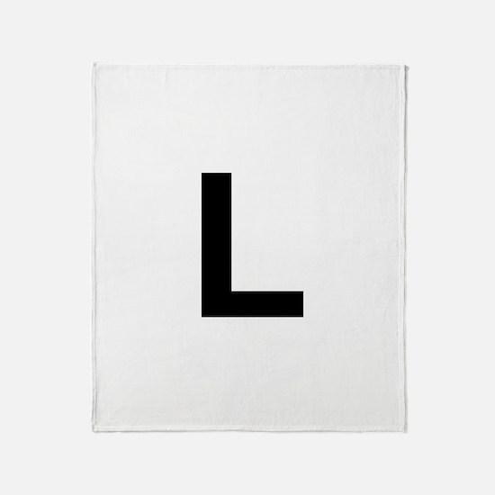 L Helvetica Alphabet Throw Blanket