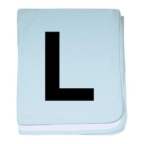 L Helvetica Alphabet baby blanket