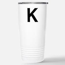 K Helvetica Alphabet Travel Mug