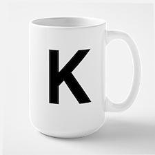 K Helvetica Alphabet Large Mug