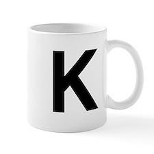 K Helvetica Alphabet Mug