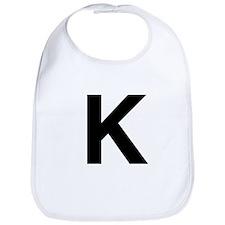K Helvetica Alphabet Bib
