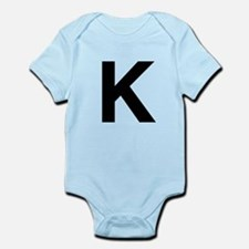 K Helvetica Alphabet Infant Bodysuit
