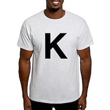 K Helvetica Alphabet T-Shirt