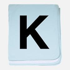 K Helvetica Alphabet baby blanket