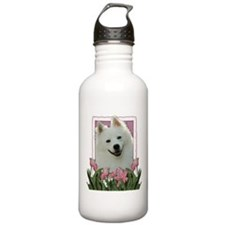 Mothers Day - Pink Tulips Sports Water Bottle