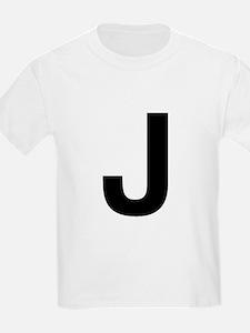 J Helvetica Alphabet T-Shirt