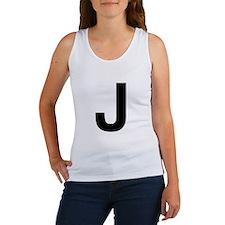 J Helvetica Alphabet Women's Tank Top