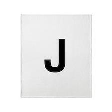 J Helvetica Alphabet Throw Blanket