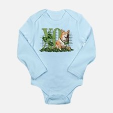 My Corgi is Me Lucky Charm Long Sleeve Infant Body