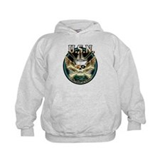 USN The Sea is Ours Skull Hoodie