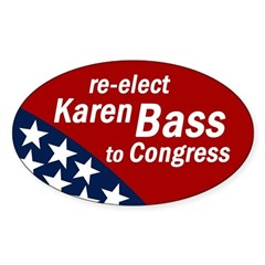 Re-elect Karen Bass bumper sticker