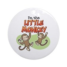 Little Monkey Ornament (Round)
