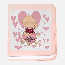 Angel Baby Valentine baby blanket