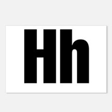 H Helvetica Alphabet Postcards (Package of 8)