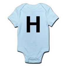 H Helvetica Alphabet Infant Bodysuit