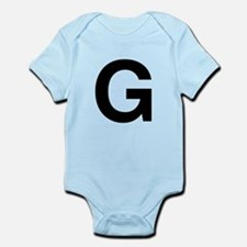 G Helvetica Alphabet Infant Bodysuit