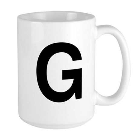 G Helvetica Alphabet Large Mug