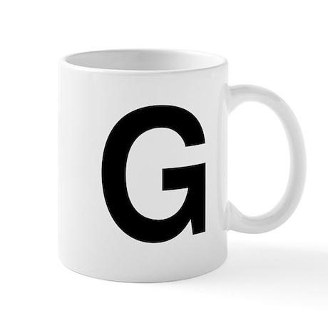 G Helvetica Alphabet Mug