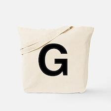 G Helvetica Alphabet Tote Bag