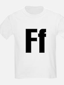 F Helvetica Alphabet T-Shirt