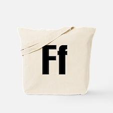 F Helvetica Alphabet Tote Bag