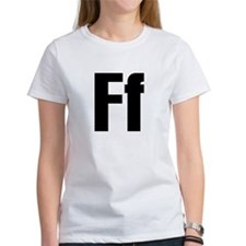 F Helvetica Alphabet Tee