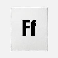 F Helvetica Alphabet Throw Blanket