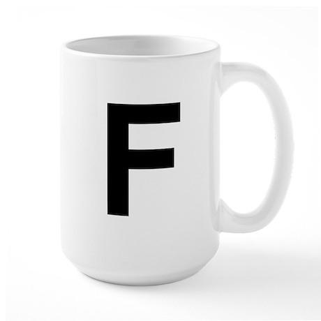 F Helvetica Alphabet Large Mug