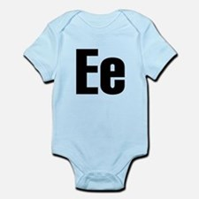 E Helvetica Alphabet Infant Bodysuit