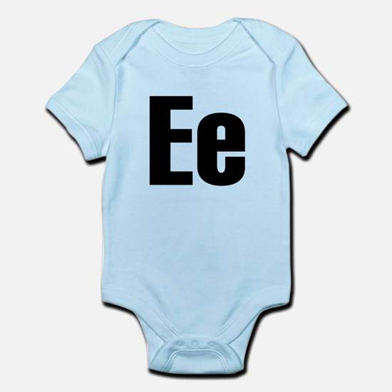 E Helvetica Alphabet Infant Bodysuit