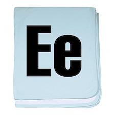 E Helvetica Alphabet baby blanket