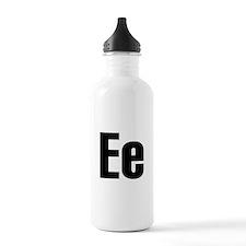 E Helvetica Alphabet Water Bottle