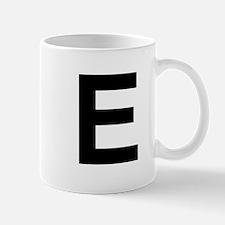 E Helvetica Alphabet Mug