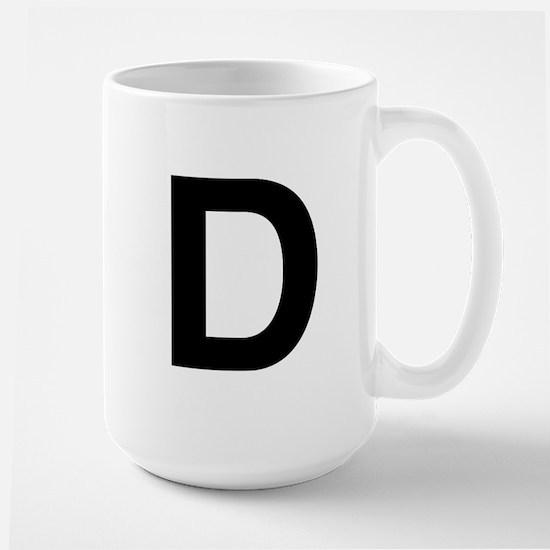 D Helvetica Alphabet Large Mug