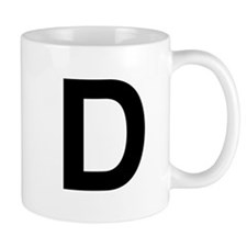 D Helvetica Alphabet Mug
