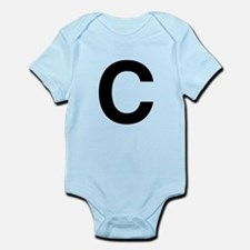 C Helvetica Alphabet Infant Bodysuit