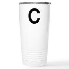 C Helvetica Alphabet Travel Mug