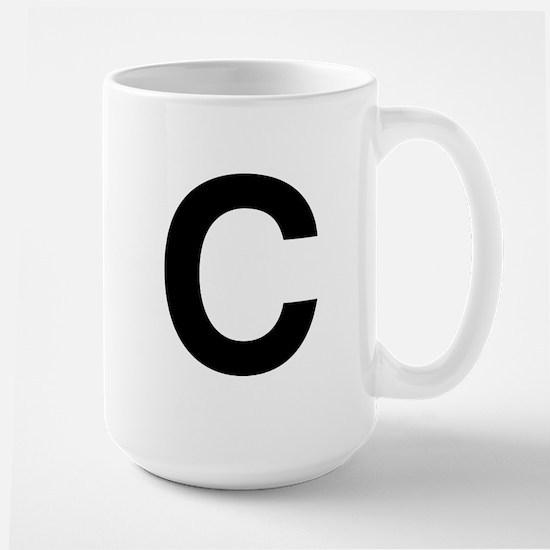 C Helvetica Alphabet Large Mug