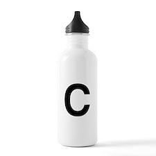 C Helvetica Alphabet Water Bottle