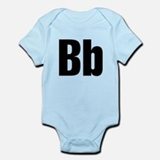 B Helvetica Alphabet Infant Bodysuit